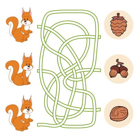 maze game: Maze game (squirrel)