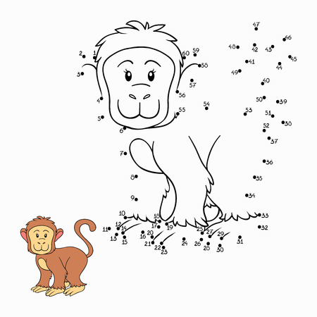 Numbers game (monkey) Vector