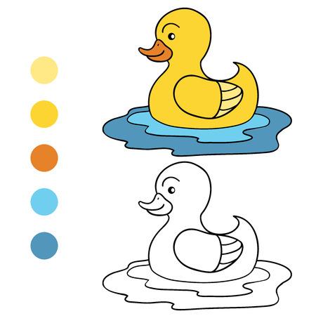 Coloring book (duck) Vector