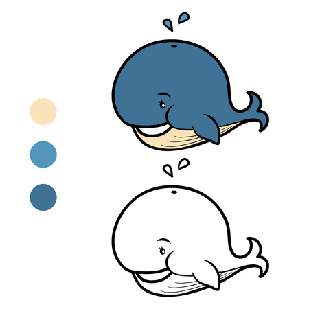 Coloring book (whale)