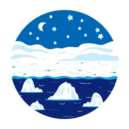berg: Circle locations, little landscape (winter polar night)