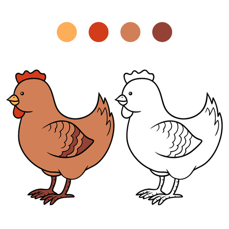 colorless: Coloring book (chicken)