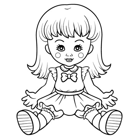 small girl: Coloring book (doll)