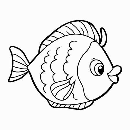 塗り絵 (魚)
