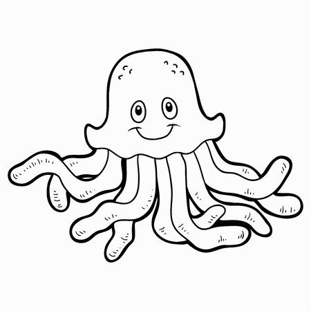 Libro Para Colorear Para Los Niños (medusas) Ilustraciones ...