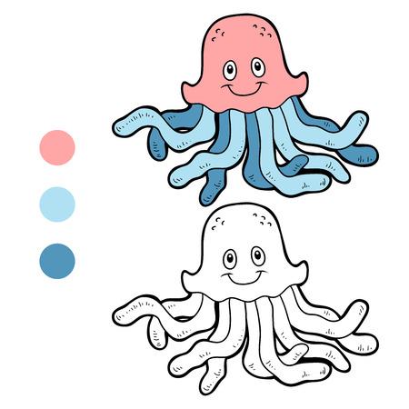 medusa: Coloring book (medusa) Illustration