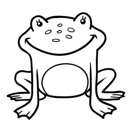 cute frog: Coloring book (frog)
