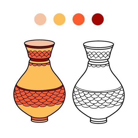 clay pot: Coloring book (vase)