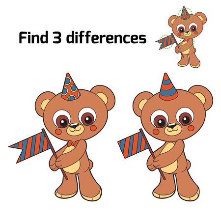 to find: Find 3 differences (bear)
