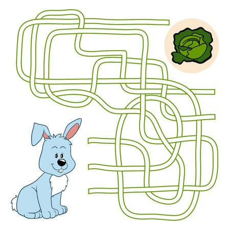 Maze game (rabbit) Vector