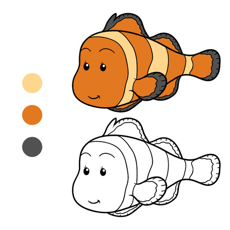 clown fish: Coloring book (clown fish) Illustration