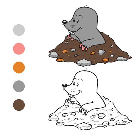 burrow: Coloring book (mole)
