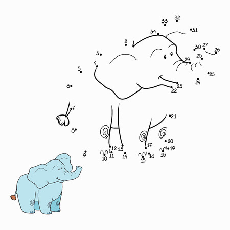Numbers game (elephant) Vector