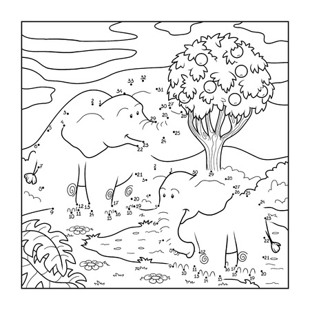Numbers game (elephants) Vector