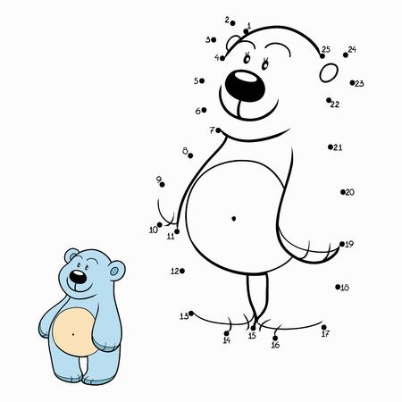 libro caricatura: N�meros del partido (oso polar) Vectores
