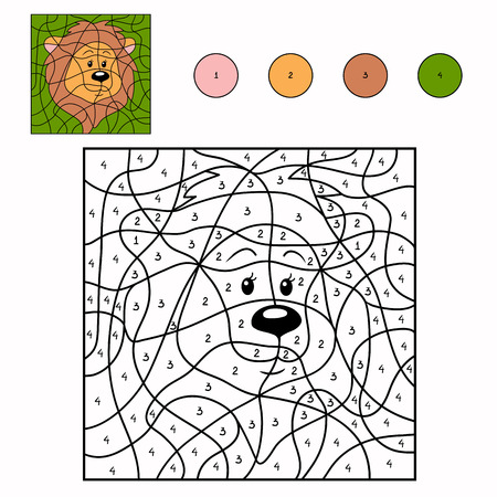 lion drawing: Numbers game (lion)