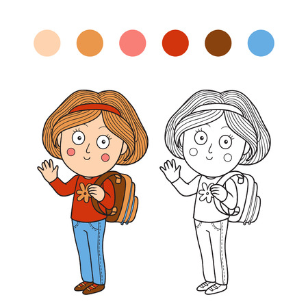 Coloring Book (girl) Royalty Free Cliparts, Vectors, And Stock ...