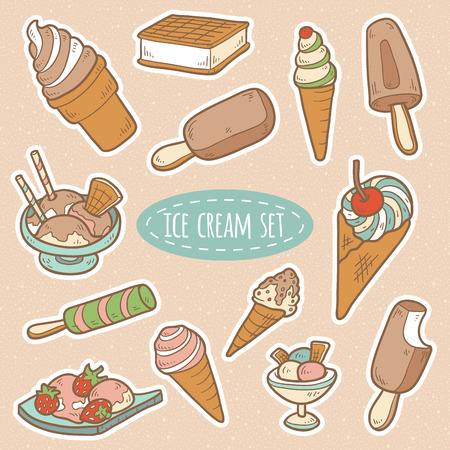 Set of vector ice cream Vector