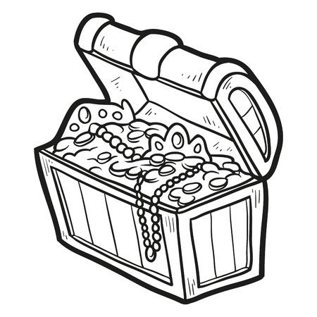 Coloring book (treasure) Stock Illustratie