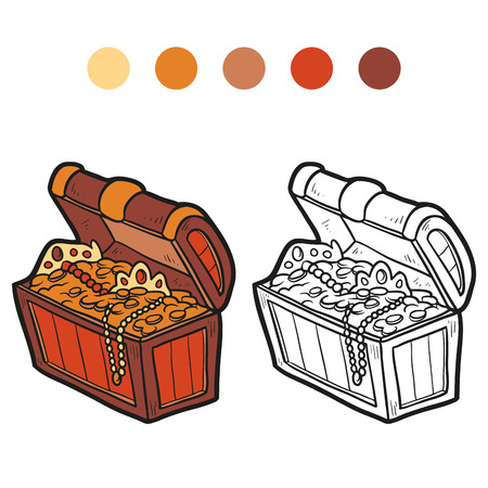 toy chest: Coloring book (treasure) Illustration