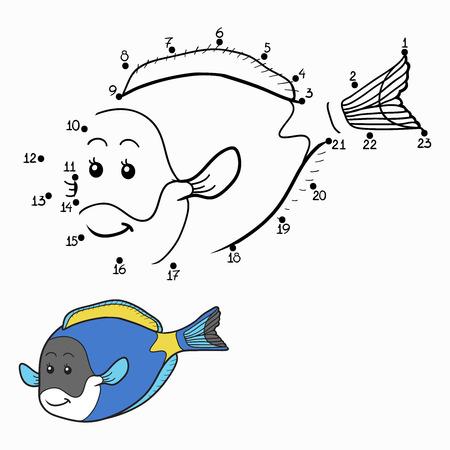 public aquarium: Numbers game (blue fish)
