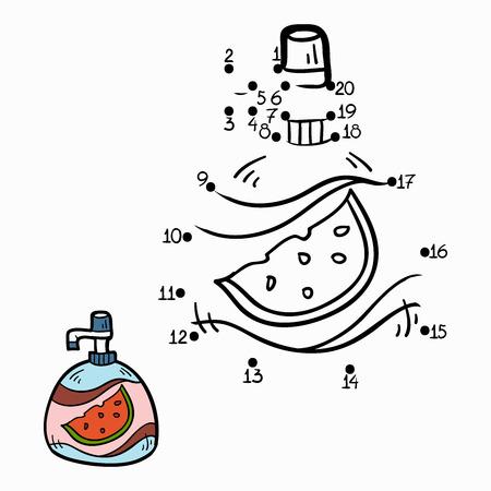 liquid soap: Numbers game (liquid soap) Illustration