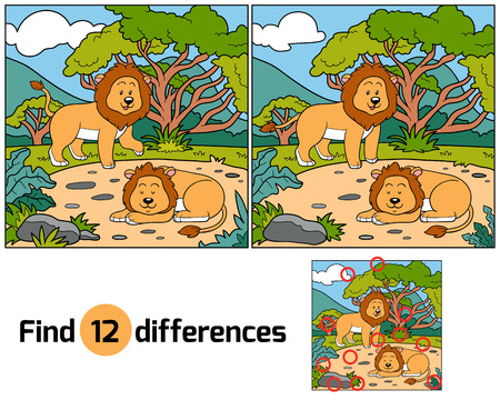 Find differences (lions)