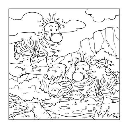 Numbers game (zebra) Ilustracja