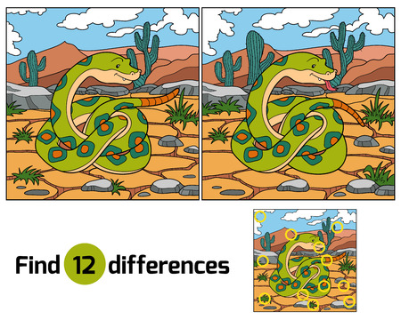 Find differences (snake) Vector