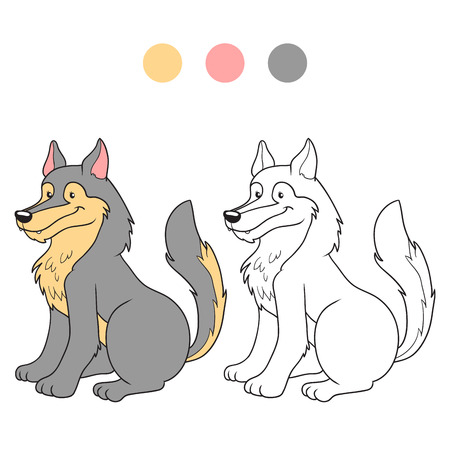 grey wolf: Coloring book (wolf)