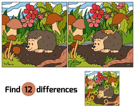 Find differences (hedgehog)