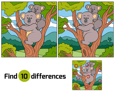 fur trees: Find differences (koala)