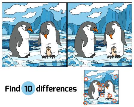 Zoek de verschillen (pinguin)