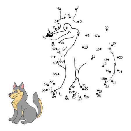 Numbers game (wolf) Illustration