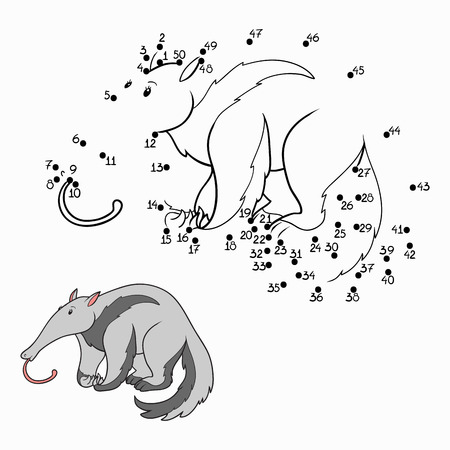 Numbers game (anteater) Vector