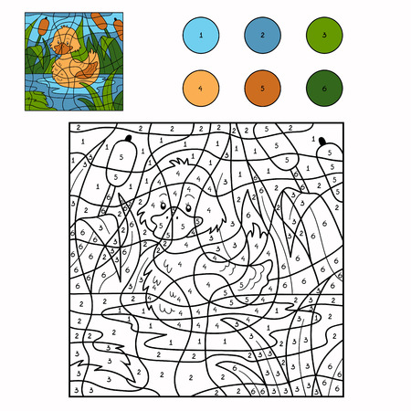 numeros: Color por número (pato)