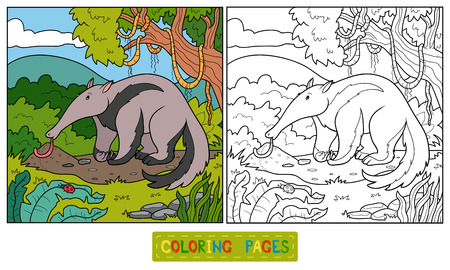 anthill: Coloring book (anteater) Illustration
