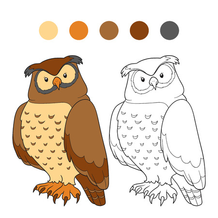 Coloring Book (owl) Royalty Free Cliparts, Vectors, And Stock ...
