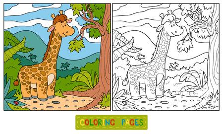 colorless: Coloring book (giraffe)