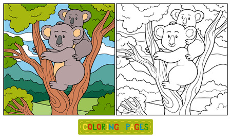Coloring book (koala) Vector