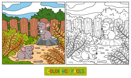 coloration: Coloring book (mouse)