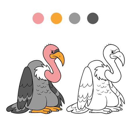 vulture: Coloring book (vulture)