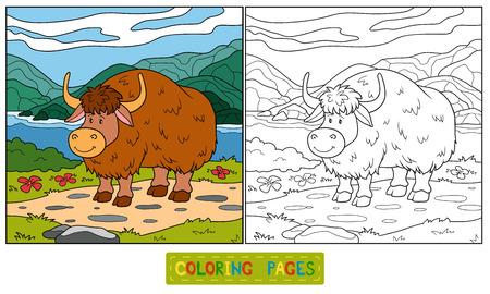 yak: Coloring book (yak) Illustration