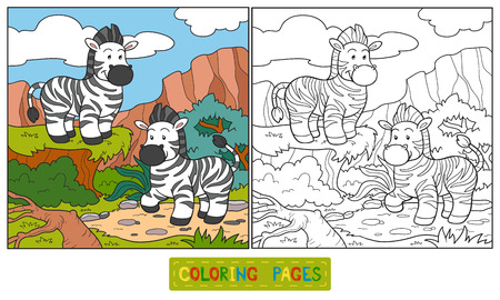 grass family: Coloring book (zebra)