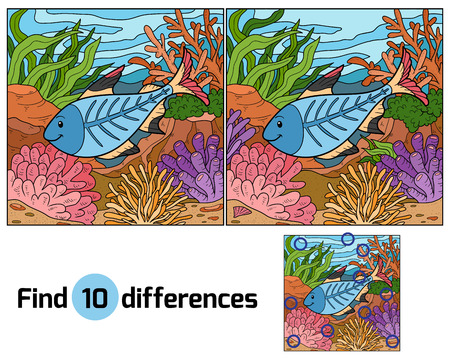Find differences (x-ray fish) Illustration