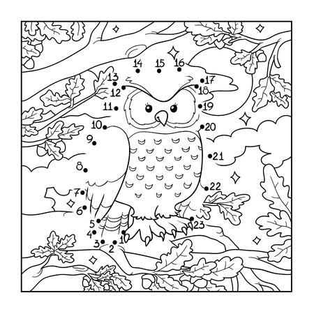 Numbers game (owl, bird) Vectores