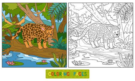 jaguar: Game for children: Coloring book (jaguar)