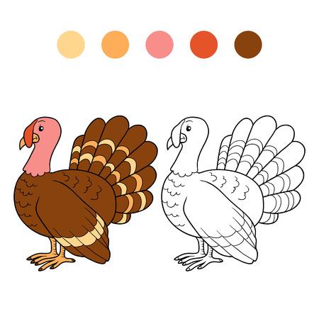 gobbler: Game for children: Coloring book (turkey)