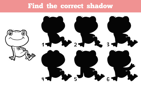 shadow match: Find the correct shadow (frog)