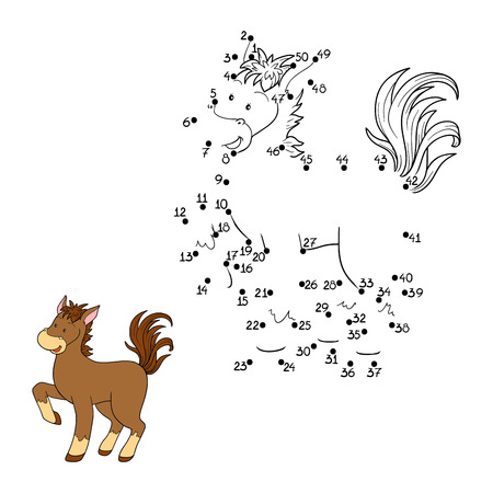 Game for children: Numbers game (horse)